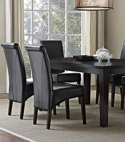 Amazon.com: Simpli Home 7 Piece Avalon Dining Set, Midnight Black: Kitchen  U0026 Dining