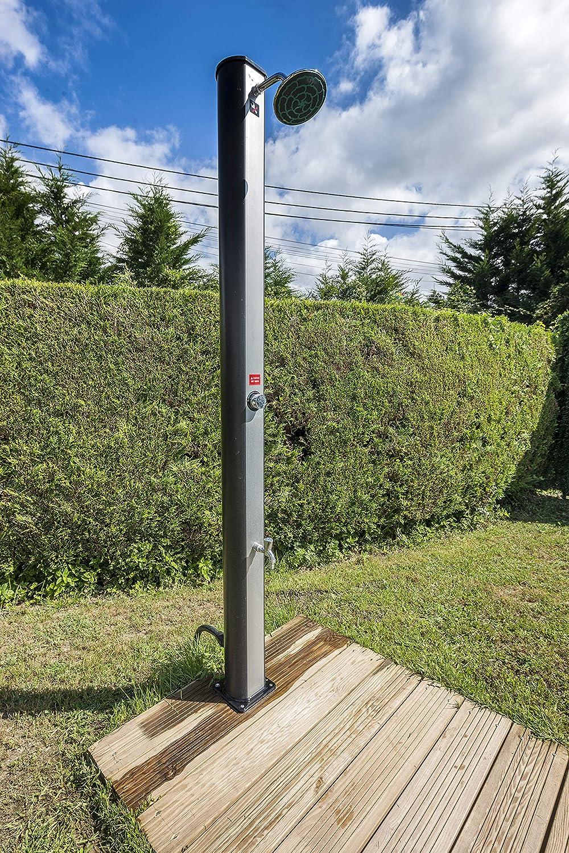 Gre AR1035P Ducha Solar PVC, 35 L, Dos Piezas, para jardín: Amazon ...