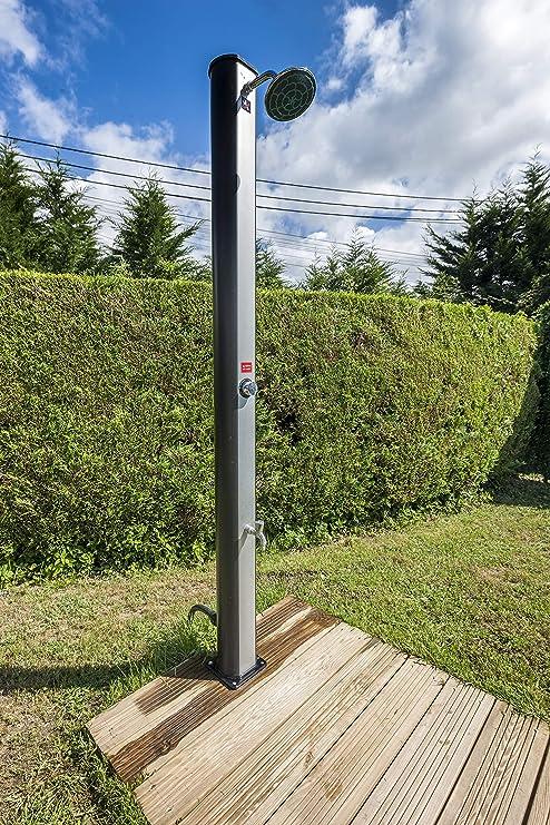 Gre DSPS35 DSPS35-Ducha jardín, PVC, con Lavapiés, 35 litros: Amazon.es: Jardín