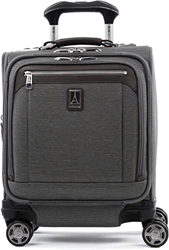 Travelpro Platinum Elite-Underseat Spinner Tote Bag with USB Port, Vintage Grey, 16-Inch