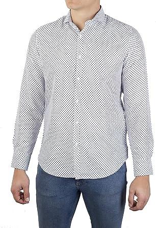 0063Voray Ga Camisa de Sport Hombre Estampada Cuello Italiano (0063-01, 4): Amazon.es: Ropa y accesorios