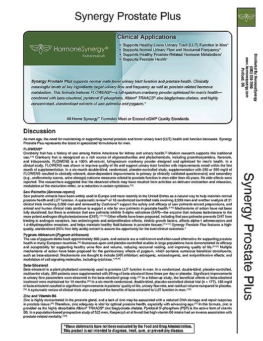 Amazon.com: Synergy Prostate Plus | 60 Softgels | FLOWENS® full-spectrum cranberry powder | saw palmetto | beta-sitosterol, pyridoxal 5-phosphate, ...