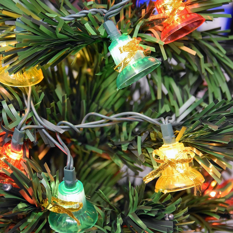 Amazon.com : Holiday Essence Musical Christmas Bell Light Set, 30 ...