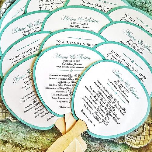 amazon com program fan beach wedding program destination wedding