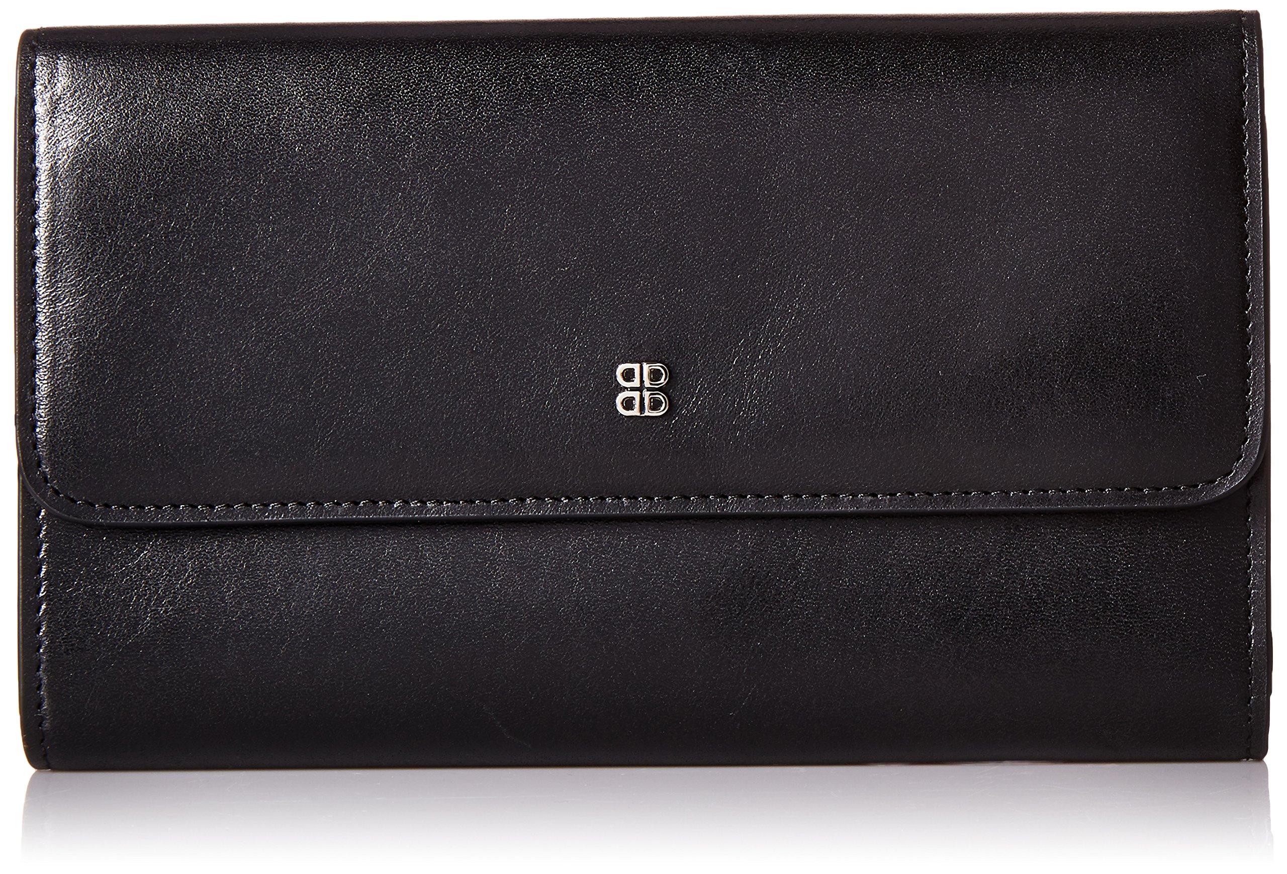Bosca Women's Old Leather Checkbook Clutch Black One Size