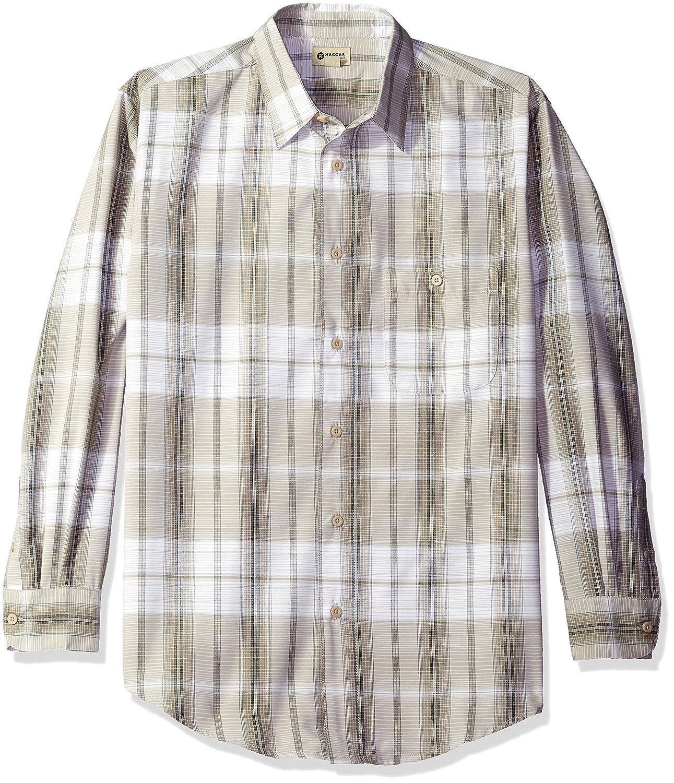 Haggar Men's Men's Long Sleeve Microfiber Woven Shirt at Amazon Men's  Clothing store: