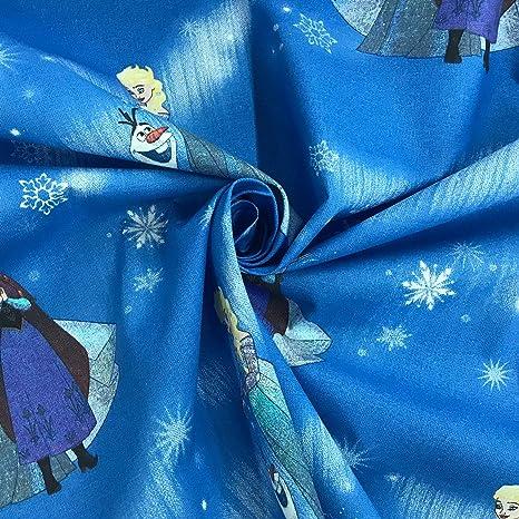 Disney Frozen 100/% paillettes tissu de coton matériau par demi mètre