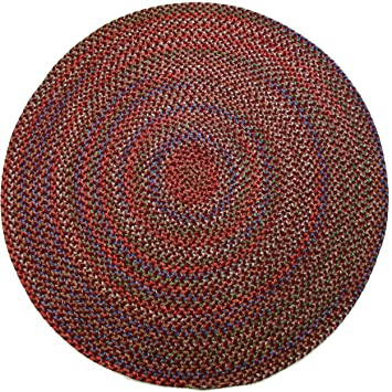 Amazon Com Katherine Multi Indoor Outdoor Round Braided Rug 6 Feet