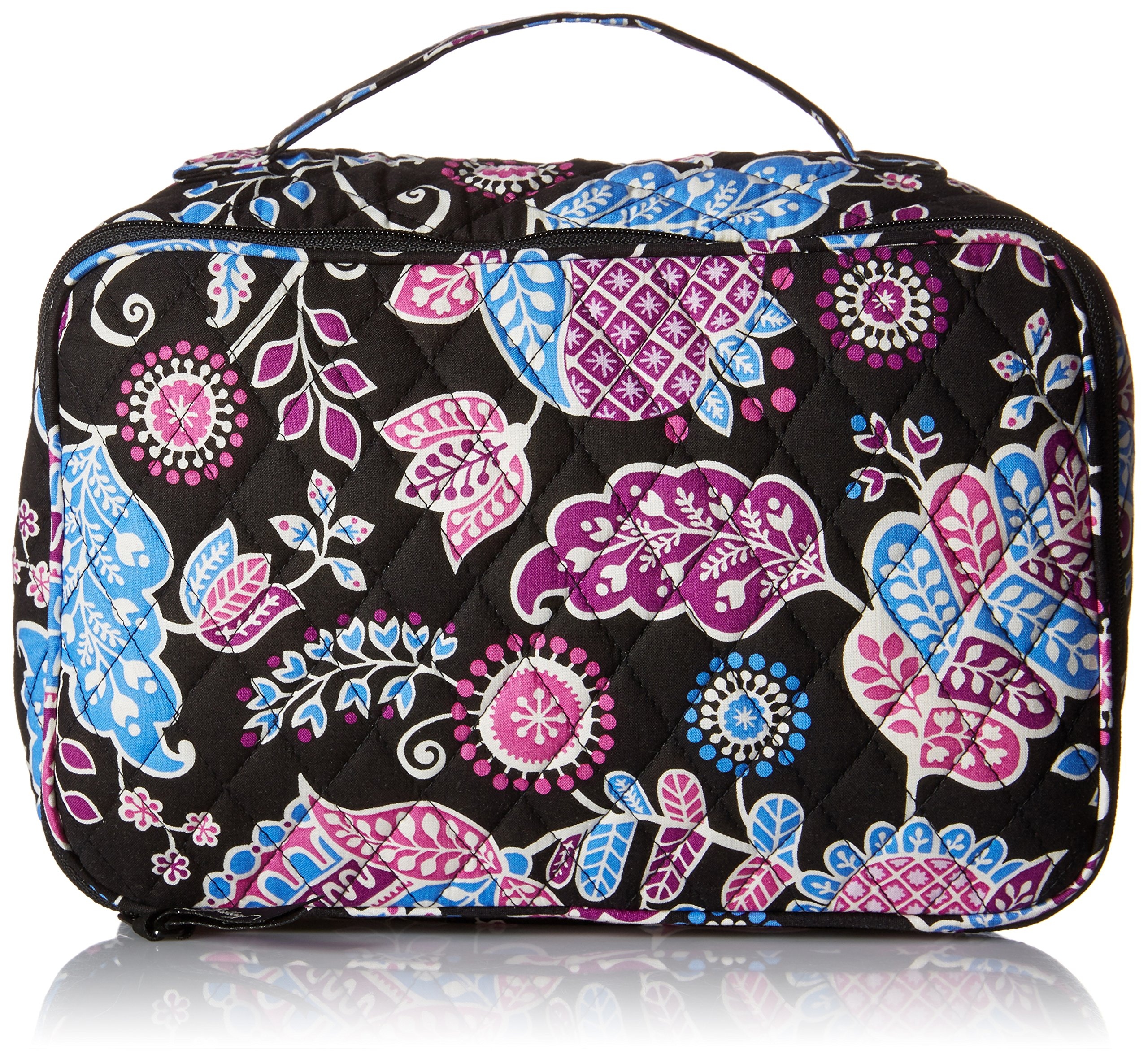 Vera Bradley Luggage Women's Large Blush & Brush Makeup Case Alpine Floral Cosmetic Bag