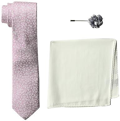 42d660d88685 Ben Sherman Men's 100% Silk Tie With Pocket Square & Lapel Pin Box Set,