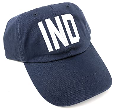 43fce55035461 Image Unavailable. Image not available for. Color  Custom Monogrammed IND  Indianapolis Airport Code Baseball Hat ...