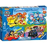Ravensburger Paw Patrol 4 Large Shaped Jigsaw Puzzles (10,12,14,16pc)