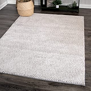 "product image for Orian Rugs Plush Shag Collection 403657 Horton Check Area Rug, 7'10"" x 10'10"", Grey"