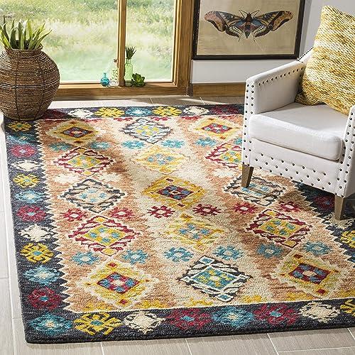 Cheap Safavieh Aspen Collection APN508B Handmade Boho Wool Area Rug living room rug for sale