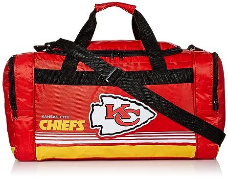 5fcbec8c4 Image Unavailable. Image not available for. Color  Kansas City Chiefs  Medium Striped Core Duffle Bag
