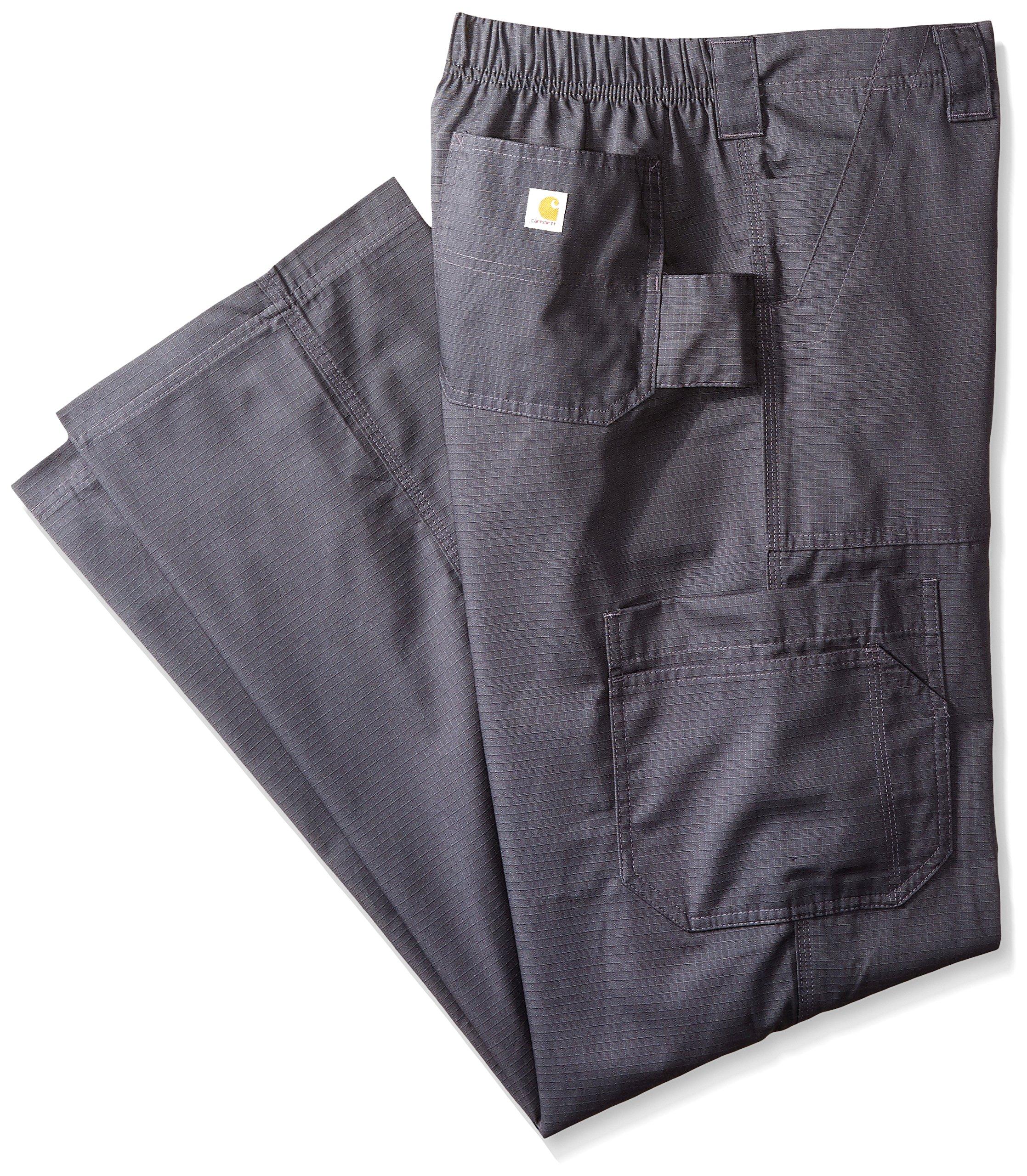 Carhartt Men's Tall Ripstop Multi-Cargo Scrub Pant, Dark Pewter, Large/Tall