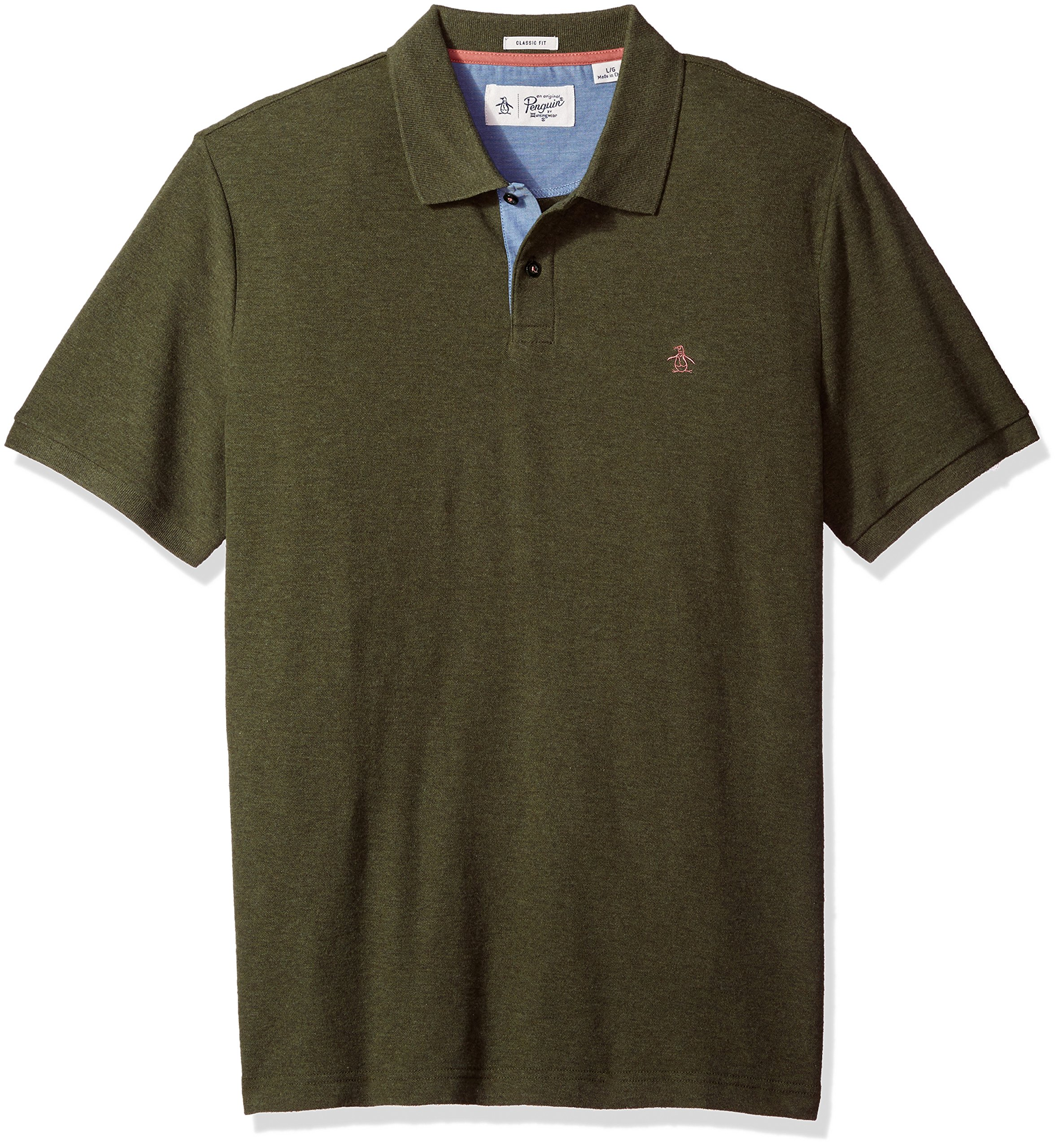 Original Penguin Men's Classic Fit Daddy-O Polo, Forest Night, Small