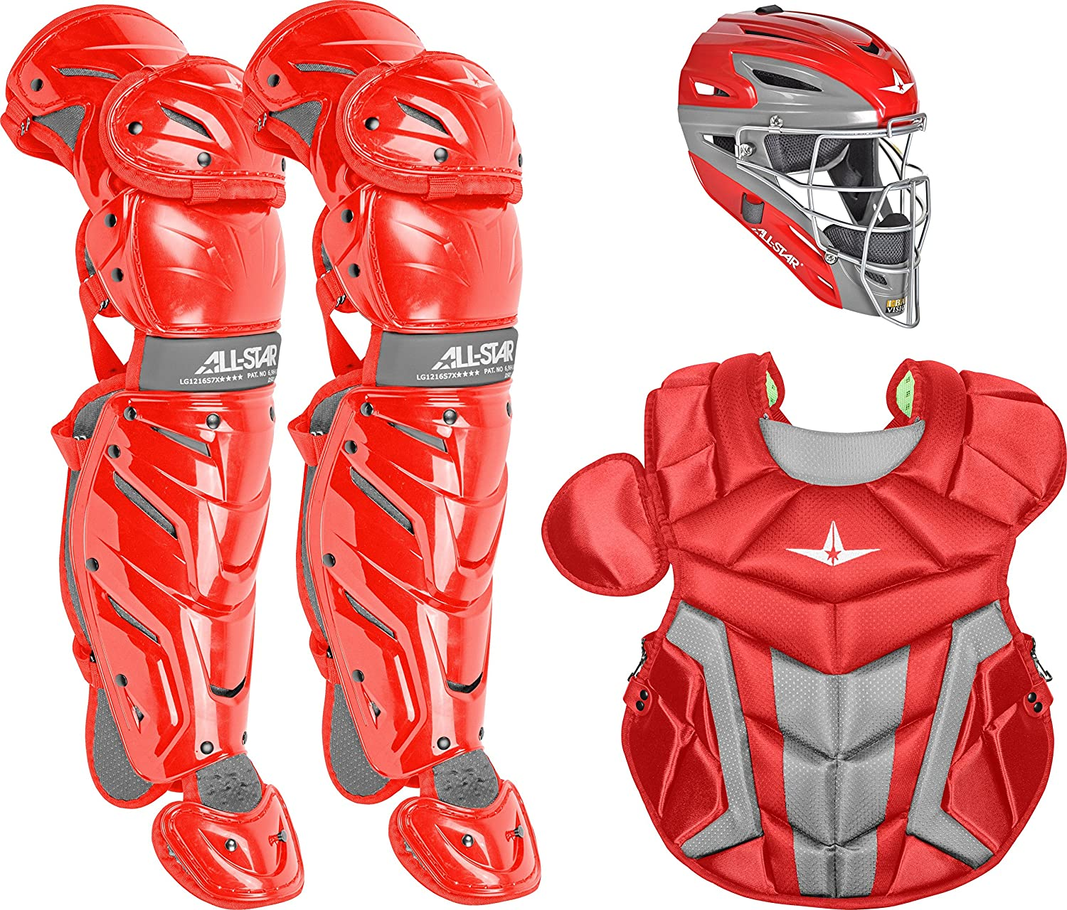 2803ce86b54b Amazon.com   All-Star Youth System7 Axis Pro Catcher s Set (Ages 9-12)    Sports   Outdoors