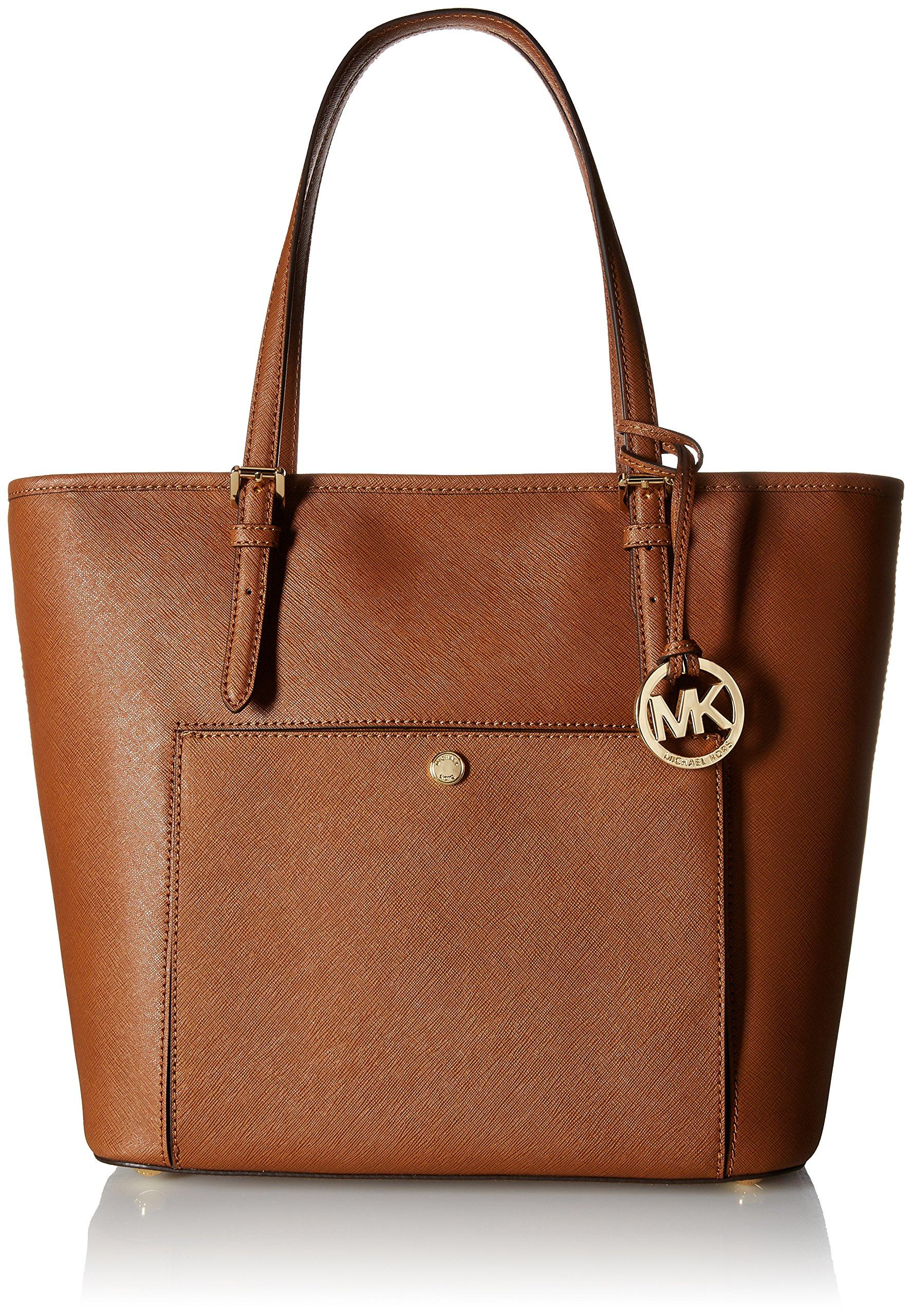 Michael Kors Mk Jet Set Signature Shoulder Bag, Luggage , Large
