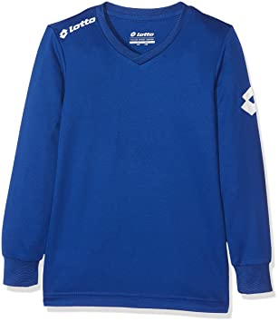 Lotto Jersey LS Team EVO Jr Camiseta, Niños, Azul (Navy), 2XS