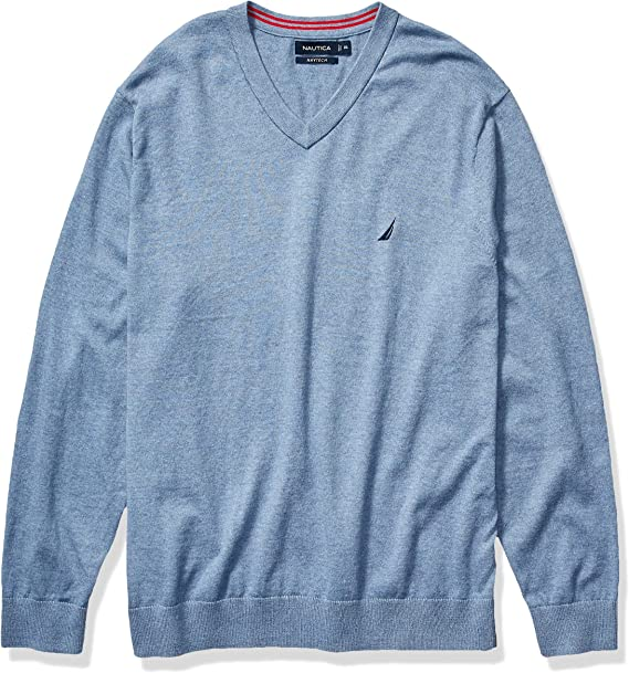 Nautica Mens Big and Tall Navtech Quarter-Zip Sweater