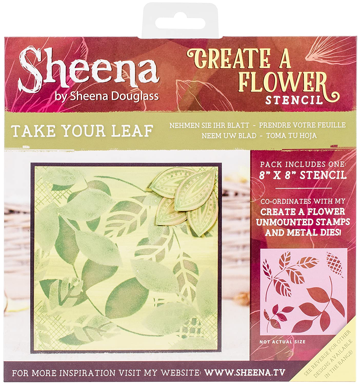 Sheena Douglass, fustella per fai-da-te, plastica, Clear, 21.3 x 0.03 x 23.2 cm Crafter' s Companion SD-STEN-CAF-LEA