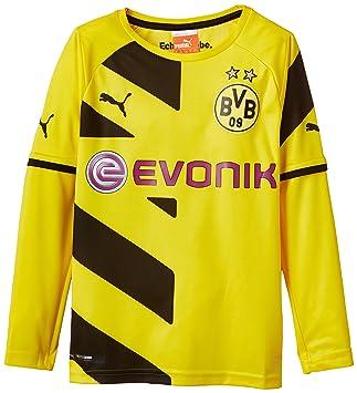 Puma BVB - Camiseta de fútbol para niño (del equipo Borussia Dortmund) amarillo amarillo