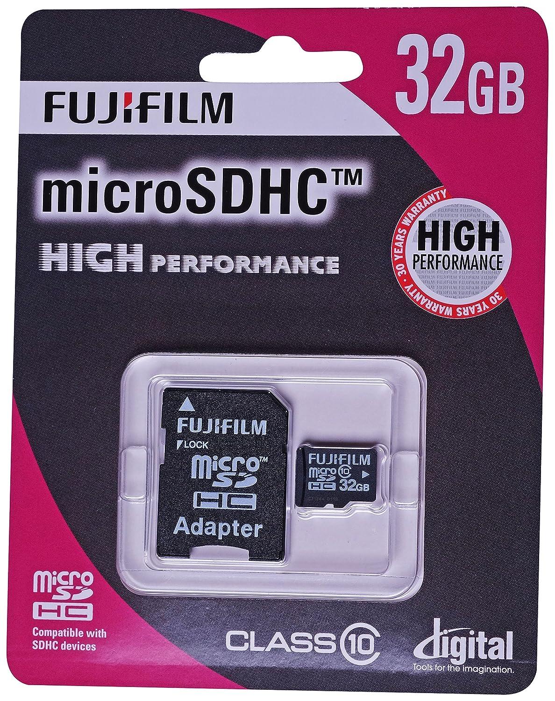 Fujifilm 32 GB de Alto Rendimiento C10 Tarjeta Micro SDHC ...