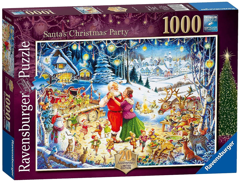 Ravensburger Santa's Christmas Party, 1000pc 2016 Limited Edition Jigsaw Puzzle