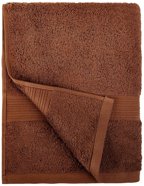 AmazonBasics - Juego de toallas (colores resistentes, 2 toallas de manos), color marrón: Amazon.es: Hogar
