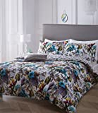 Pieridae Paradise 100% Cotton Percale Digital Print Duvet Cover & Pillowcase Set Luxury Designer Bedding Quilt Case Double Super King Superking (King)