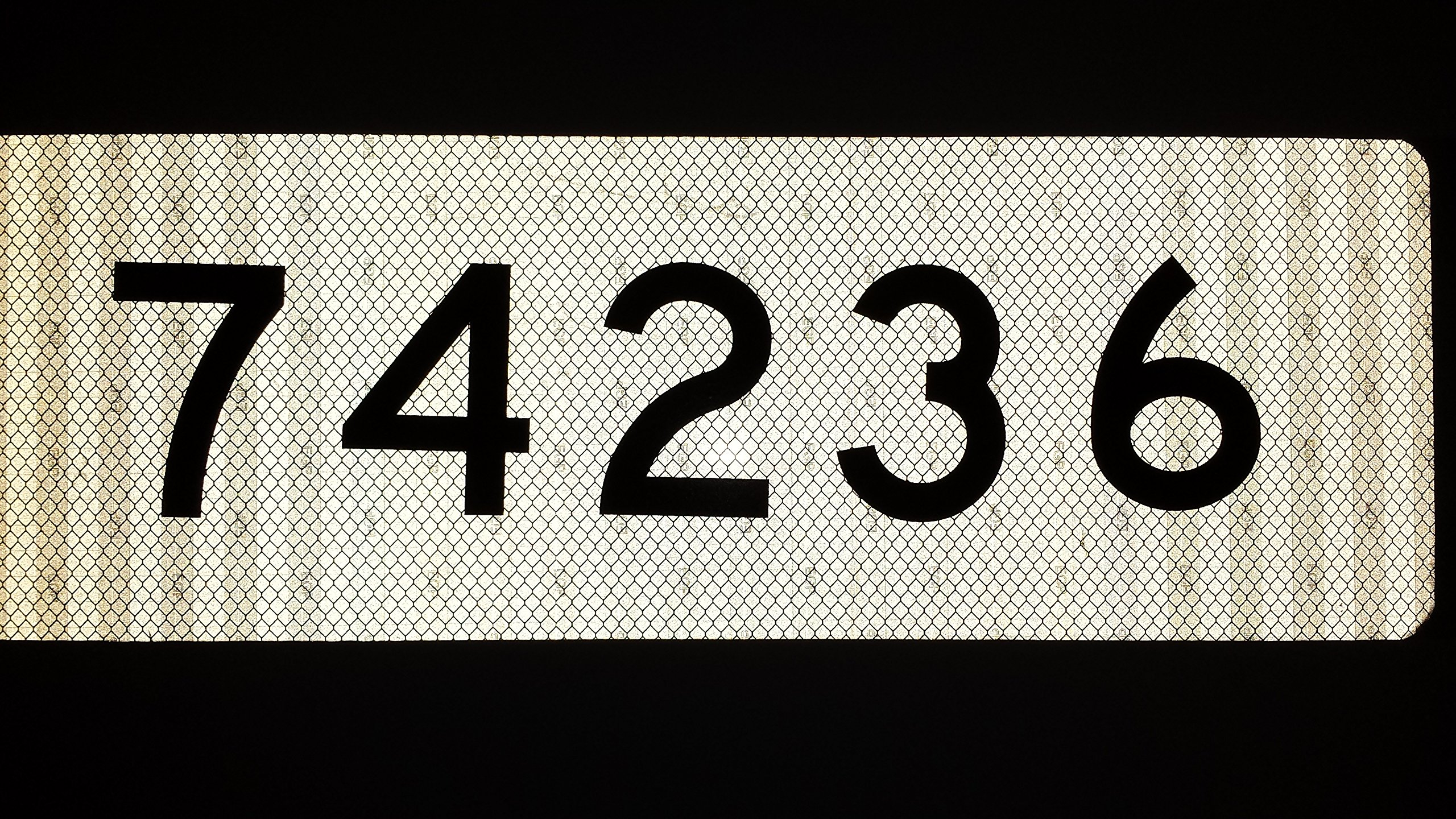 911 White 3M Prismatic Reflective Address w/ 3'' Black Numbers Mailbox Marker Home Business Horizontal Mg2 Signs