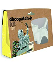 Decopatch–Papel maché (Mini Kit 19x 13,5x 4,5cm), diseño de Gato, marrón