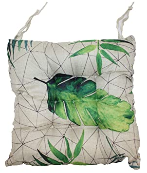 Amazonde Palmen Stuhl Auflage Sitz Kissen 4er Hellgrün