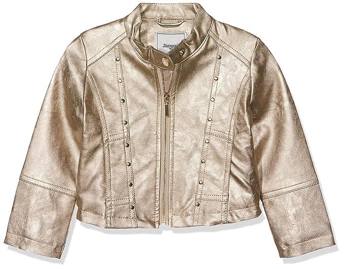 15a4582cf Amazon.com: Mayoral Girl's Gold Pleather Jacket, Sizes 2-9: Clothing