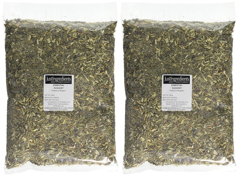 JustIngredients Essentials Mugwort 500 g, Pack of 2
