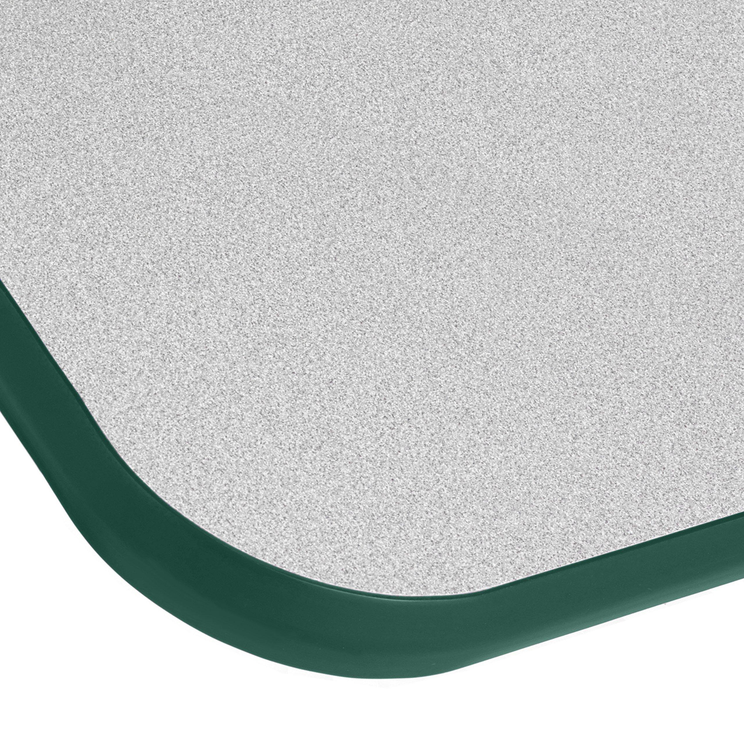 ECR4Kids Mesa T-Mold 30'' x 48'' Rectangular School Activity Table, Toddler Legs w/ Swivel Glides, Adjustable Height 15-23 inch (Grey/Green) by ECR4Kids (Image #1)