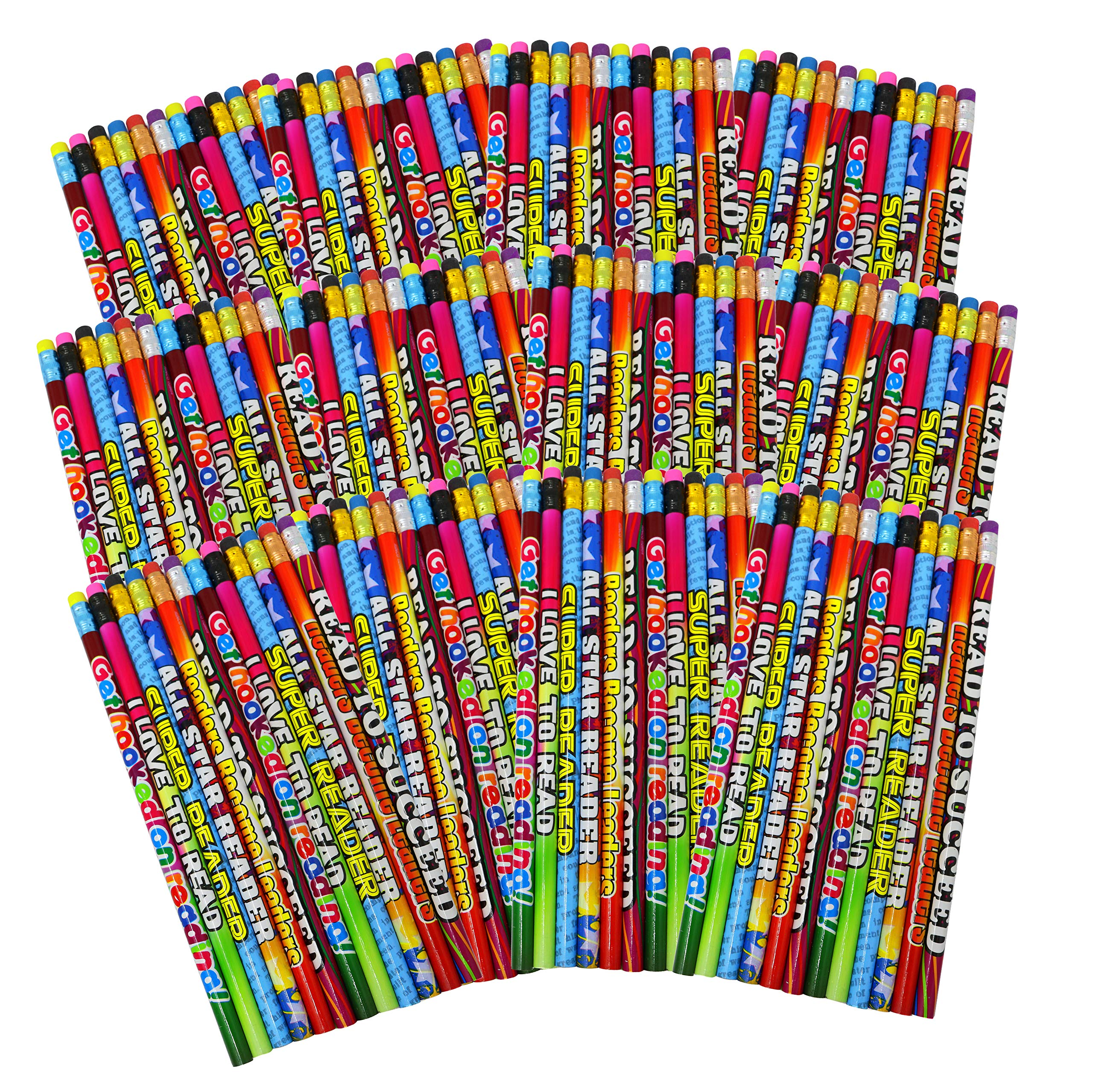 SN Incorp. Motivational Pencils for Students Readers Pencil Assortment for Classroom Rewards I Love to Read Pencil Party Favors - Bulk School Supplies Pencils 144 by SN Incorp.