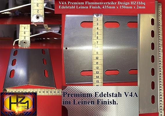 435mm x 150mm Repuesto para parrilla de acero inoxidable para Barbacoas gasístico (V4A-435-150-1): Amazon.es: Jardín