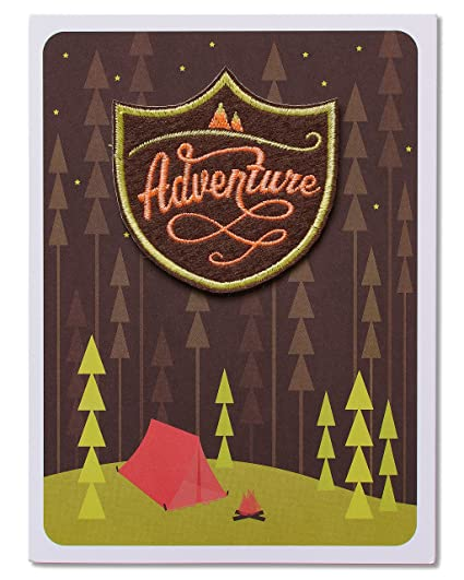 Amazon American Greetings Birthday Greeting Card Camping