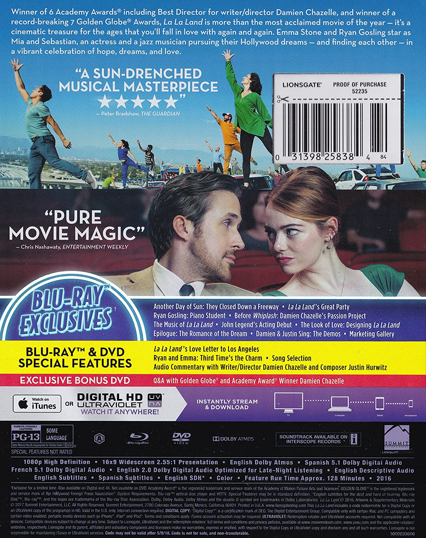 Amazon.com: La La Land [3-Disc Walmart Exclusive Limited Edition with Slip Cover] (Blu-ray/DVD/Digital HD Bonus DVD): Ryan Gosling, Emma Stone, ...