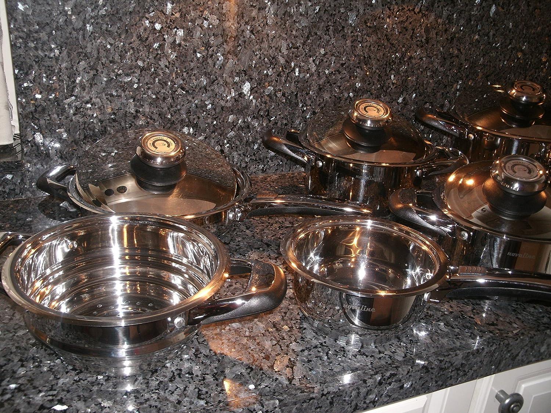 Utensilios de cocina olla Suiza AMC hecho juego de sartenes de cocina de los cocineros 12 piezas Venta al por menor de la garantía de cazuela 1139, ...