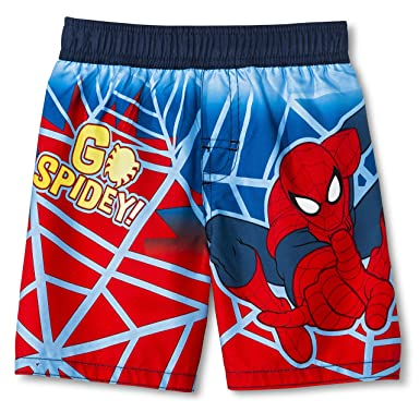 ffc053e42e Image Unavailable. Image not available for. Color: Marvel Spiderman Little Boy  Swimsuit Swim Trunk Size 5T