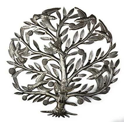 Amazon.com: it\'s cactus - metal art haiti Metal Tree Wall Art with ...