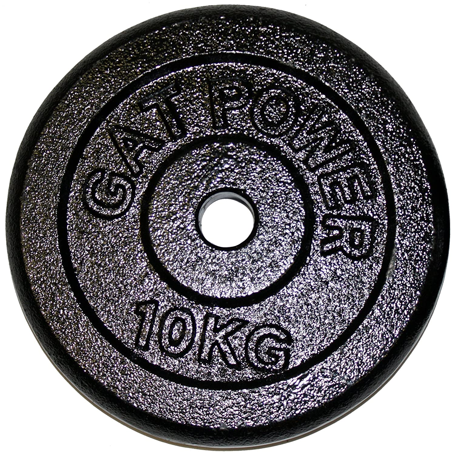Gat Slim 90002013 Barbell Weights 10 kg Solid Cast Iron