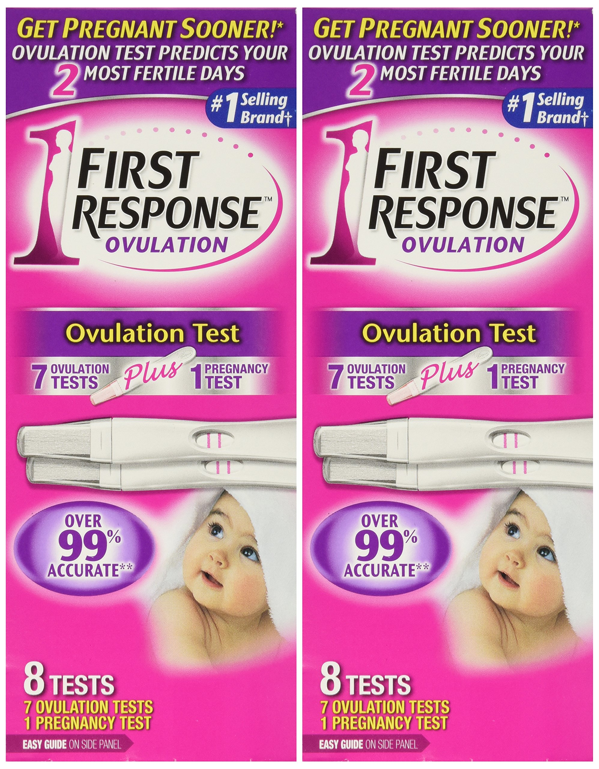 First Response Ovulation 7 Ovulation Test Plus 1 Pregnancy Test (2 Pack) by First Response