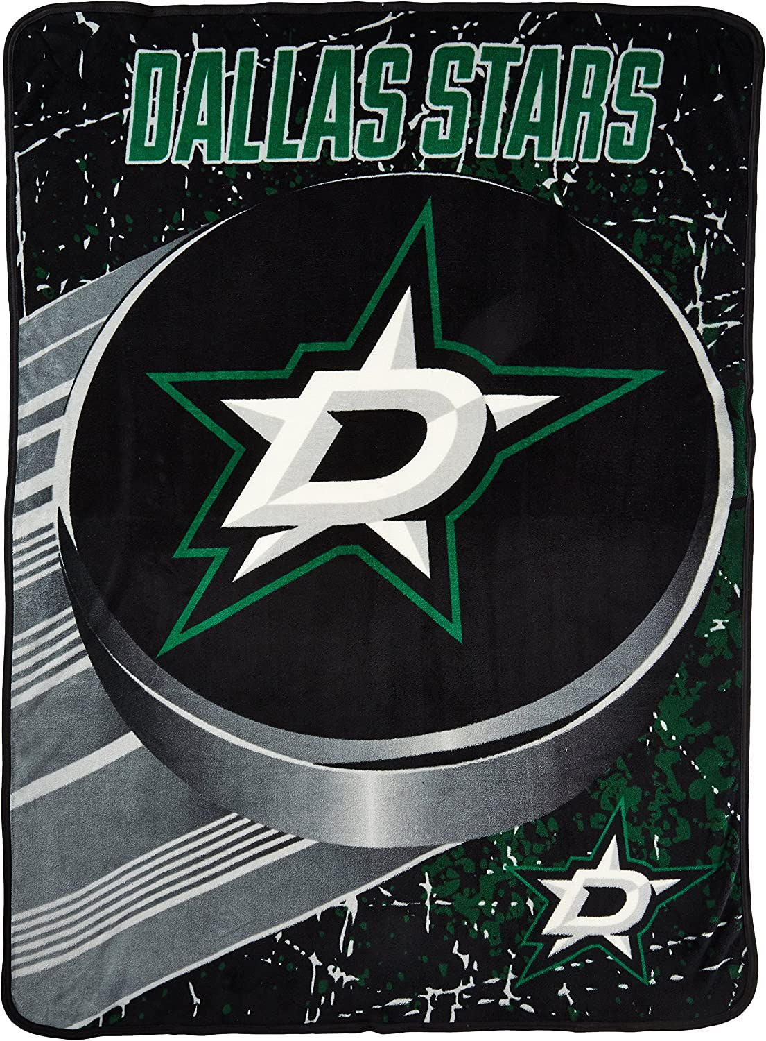 Officially Licensed NHL Ice Dash Micro Raschel Throw Blanket 46 x 60