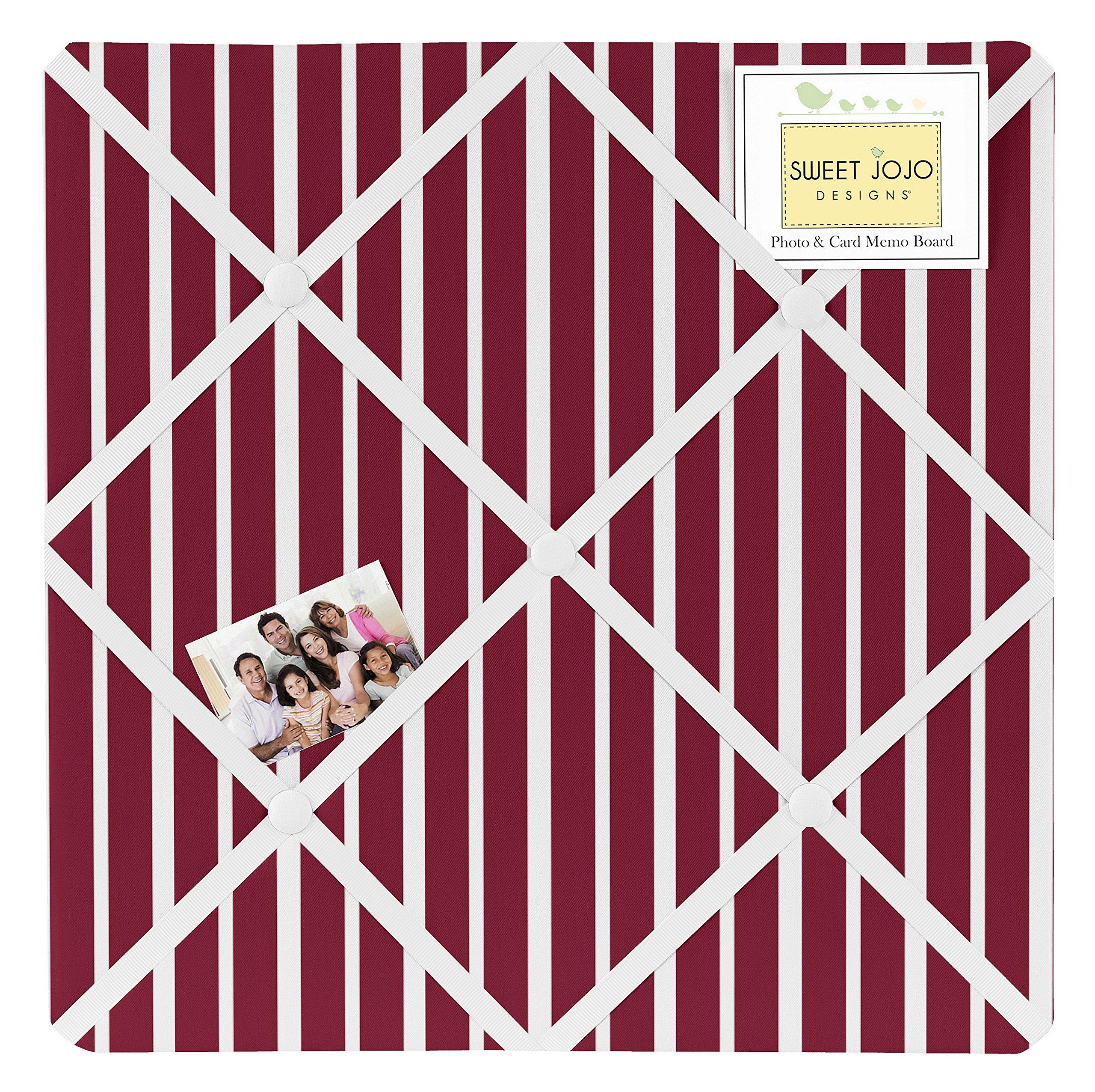 Sweet Jojo Designs Vintage Aviator Red Stripe Print Fabric Memory/Memo Photo Bulletin Board