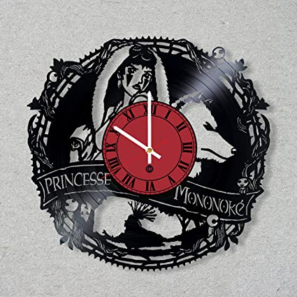 Vinyl Record Wall Clock Princess Mononoke Spirited Away Ghibli Studio Totoro Manga Anime decor unique gift