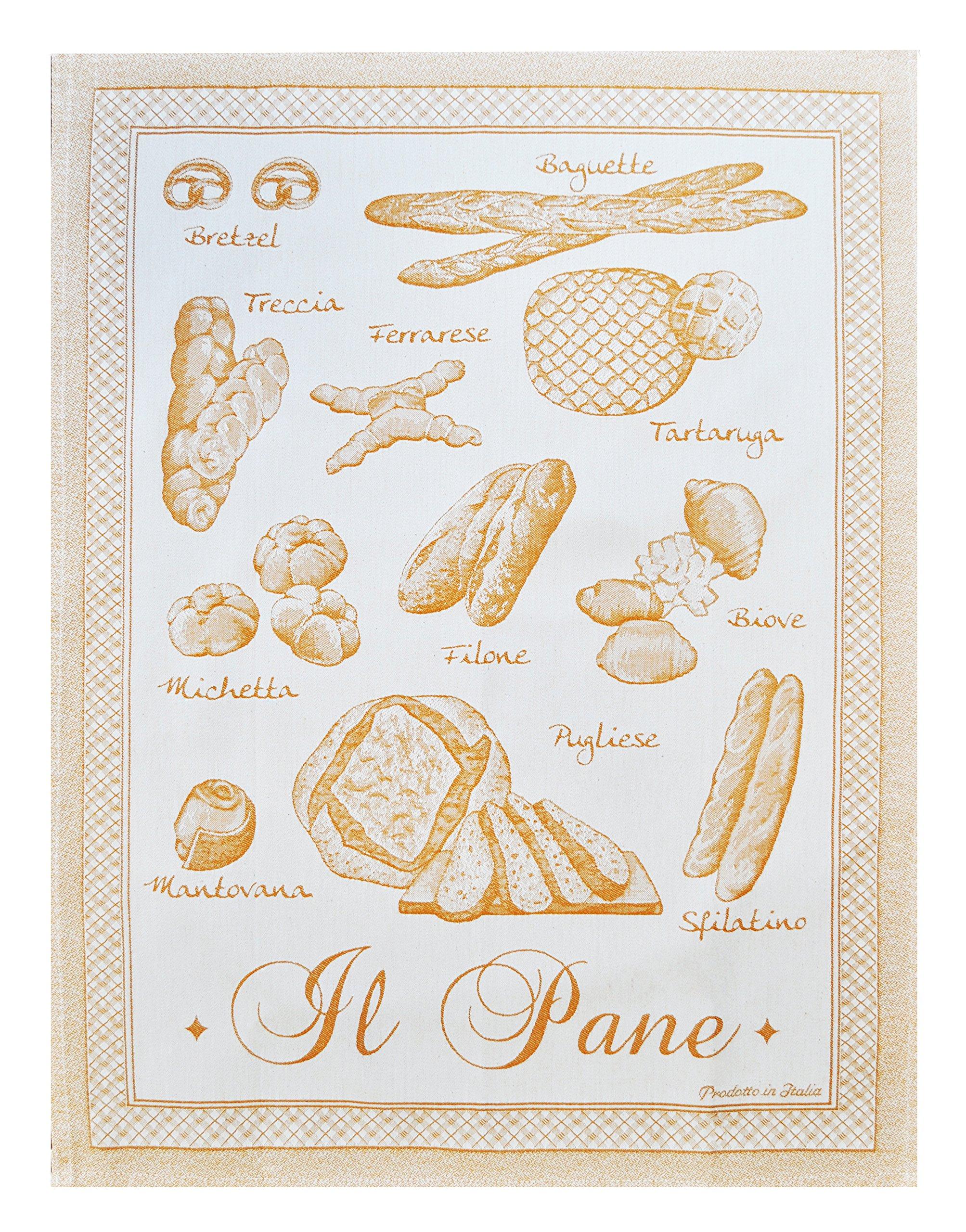 Abbiamo Tutto Breads of Italy Collection Kitchen Towel, Yellow by Abbiamo Tutto